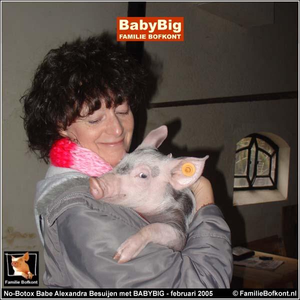 No-Botox Babe Alexandra Besuijen met BABYBIG - februari 2005